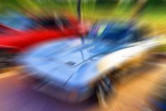 Blurred car background. Stock Photos