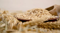 Environmentally friendly product from whole grain oats for making decoctions Stock Footage