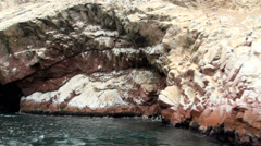 The Ballestas Islands - Pisco - Peru Stock Footage