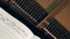Mechanism of Piano During Concert Stock Footage