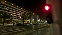 Traffic Light Time Lapse In Nice - French Riviera Stock Footage