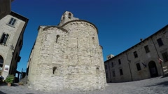 San Leo (Rimini), Italy. Medieval village. most beautiful small town in Italy. Stock Footage