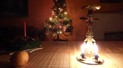 Christmas candle tree chimes Stock Footage