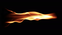 Realistic cg flames in slow motion Stock Footage