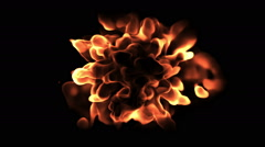 Abstract demonic flame Stock Footage