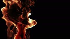 Cg young female burning in flames Stock Footage