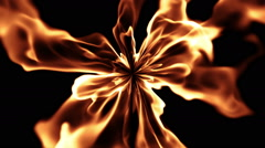 Abstract evil flame Stock Footage