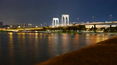 Macao skyline Stock Footage