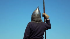 Russian medieval warrior Stock Footage