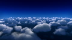 Flying over clouds timelapse Stock Footage