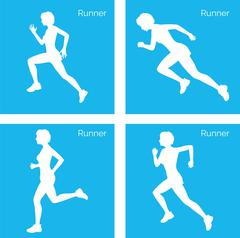 Runner silhouette Stock Illustration