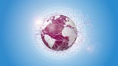Internet Network Around Orbiting Earth Stock Footage