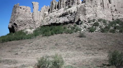 Fortress Kyzylkala Red Town on the Silk Road ancient Khorezm, in the Kyzylkum Stock Footage