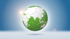 Soccer Ball Shaped Orbiting Earth Stock Footage