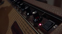 Sound synthesizer - panel with switches for adjust sound Stock Footage