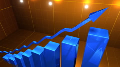 Financial figures and charts moving up Stock Footage