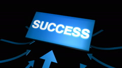 Arrows indicating success symbol. Luma channel included. Stock Footage
