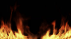 Distorted abstract cg flames rising up Stock Footage