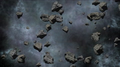 Avalanche of meteorites - stock footage