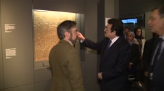 Mohammed bin Nawwaf bin Abdulaziz Saudi Ambassador in UK looking at museum Stock Footage