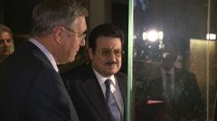 Mohammed bin Nawwaf bin Abdulaziz Saudi Ambassador in UK horse exhibition Stock Footage