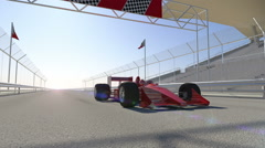 Winning formula one racing car 3d animation Stock Footage