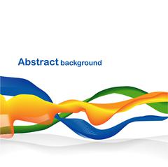 Abstract wave with ribbons Stock Illustration
