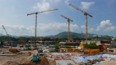 Time lapse of Construction site Stock Footage