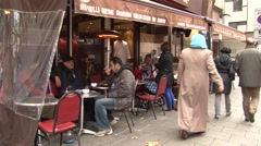 UK MUSLIMS ON A STREET OF LONDON UK - stock footage