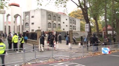 UK MUSLIMS IN LONDON REGENTS PARK MOSQUE - stock footage