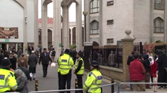 UK MUSLIMS IN LONDON MOSQUE FRIDAY PRAYER - stock footage