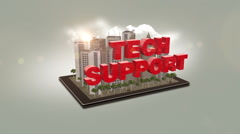 Tech Support In City Stock Footage