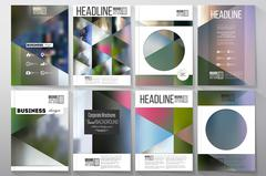 Business templates for brochure, flyer or booklet. Abstract multicolored Stock Illustration