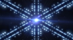 Blue Shiny Lights Background Animation Stock Footage