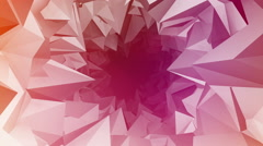 Abstract 3d tunnel background animation Stock Footage