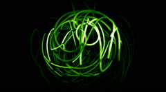 Abstract 3d wires forming sphere Stock Footage