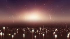 Abstract light rain background animation Stock Footage