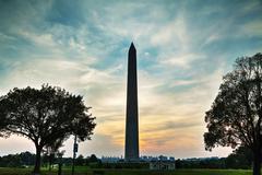 Washington Memorial monument in Washington, DC Stock Photos