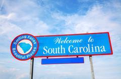 Welcome to South Carolina sign Stock Photos