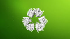 Recycling symbol animation Stock Footage