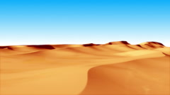 Flying over sand dunes Stock Footage