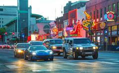Downtown Nashville at night Kuvituskuvat