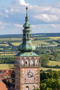 Renaissance tower with gallery and cupola - stock photo
