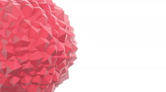 Abstract Red Geometric Polygon Shape Animation Stock Footage
