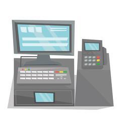 Electronic cash register vector illustration Piirros