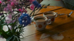 Preparing coffee in the kitchen Stock Footage