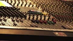 View of equipment sound engineer in nightclub. Sound control panel. Many Stock Footage