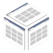 Simple isometric browser window on white background. Vector illustration Stock Illustration