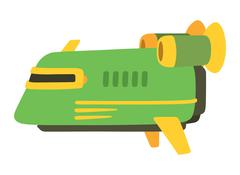UFO spaceship vector isolated Piirros