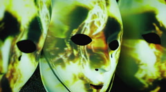 Masks scary abstract light strikes Stock Footage